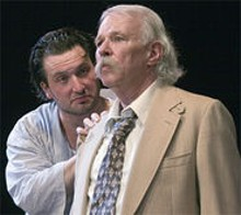 Brick (Joel Lewis) and Big Daddy (Jan Swank) star in Tennessee Williams' Cat.
