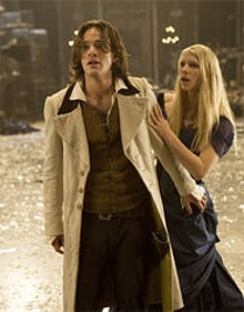 Yvaine (Claire Danes) and Tristan (Charlie Cox) are shocked at the dramatic license taken in Stardust.