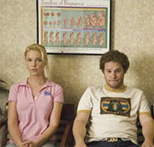 SUZANNE HANOVER - The geek (Seth Rogen) gets the girl (Katherine Heigl). Preggers.