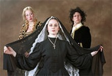 DAVID KILPER/WUSTL PHOTO SERVICES - (left to right) Kaylin Boosalis, Elizabeth Neukirch and Chris Hartman in House of Desires.