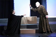 JILL RITTER - Jason Cannon confronts Joneal Joplin's dead king's ghost in Hamlet.