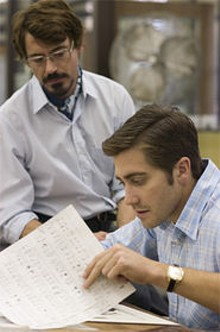 Star power: Jake Gyllenhaal (seated) and Robert Downey Jr. - in David Finchers searing Zodiac.