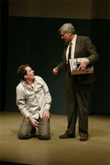 JERRY NAUNHEIM, JR - Bedtime stories: Joseph Collins (left) and Anderson - Matthews (right) in Pillowman.