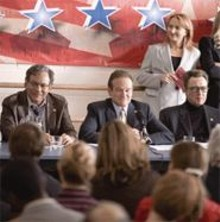 (left to right) Lewis Black, Robin Williams and Christopher - Walken in a political comedy that's less wag, more dog.