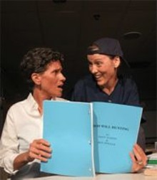 Good will waning: Kirsten Wylder (left) and Margeau Baue Steineau in a so-so comedy.