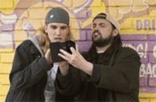 2006/DARREN  MICHAELS - Jay (Jason Mewes, left) and Silent Bob (Kevin Smith, right) skim for the naughty bits.