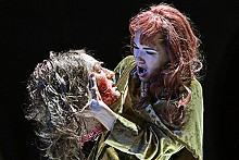 KEN HOWARD - Shockingly beautiful: Kelly Kaduce as Salome, shown with the head of Jokanaan.