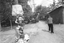 JENNIFER  SILVERBERG - Stanley Parker's makeshift memorial at Rosalie and - Clarence