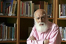 "BILL HUGHES - Randi visits the ""Isaac Asimov Library"" at the James Randi Educational Foundation."