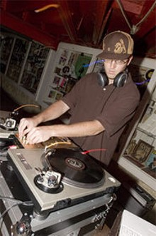 JENNIFER SILVERBERG - DJ Trackstar hopes to create a calmer and gentler atmosphere at local hip-hop clubs.