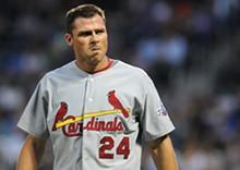 JAMES ESCHER/ICON SMI - Did we just witness Swingin' Dick Ankiel's last at-bat as a Cardinal?