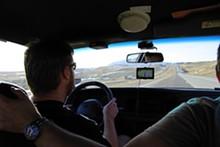 NICHOLAS PHILLIPS - Chris LaCon hustles Project Interceptor toward the mountains of Wyoming.