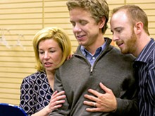 JOHN LAMB - Michelle Hand, Ben Nordstrom and Charlie Barron in Echo Theatre Company's The Ugly One.