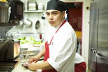 JENNIFER SILVERBERG - Executive chef Alberto George in the restaurant's kitchen.