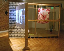 View of Jerstin Crosby's In the Manner of Smoke installation at Good Citizen Gallery.