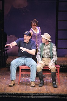 JERRY NAUNHEIM JR. - Dan Sharkey, Sara M. Bruner and Scott Schafer in the Rep's The Fanasticks.