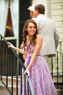 SAM EMERSON - Party in the Southern U.S.A.: Miley Cyrus stars in Nicholas Sparks' latest, The Last Song.