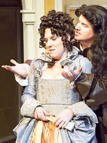 JOHN LAMB - Gary Wayne Barker and Kelley Ryan in Tartuffe.