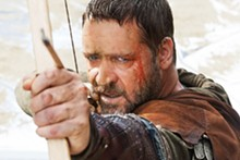 Russell Crowe tries to remember what he's fighting for in the convoluted Robin Hood.