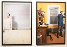 COURTESY OF THE ARTIST AND GOOD CITIZEN GALLERY - Caleb Cole, Beige (left) and Whiskey and Cookies,  2008. Archival Inkjet Prints, 13-by-19 inches each.