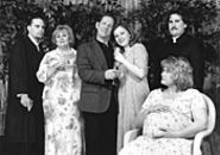 David Lintzenich, Donna Weinsting, John Bratkowski, Melissa Byers, Isaac Bondurant and Jennifer Ahrens in Impossible Marriage