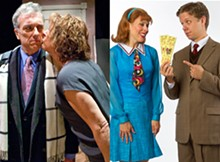LISA MANDEL/ WHITNEY CURTIS - Left: Jerry Vogel and Stellie Siteman in It Had to Be You. Right: Ben Nordstrom and Tari Kelly in Promises, Promises.
