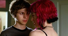 KERRY HAYES - Scott Pilgrim (Michael Cera) gets close to Ramona Flowers (Mary Elizabeth Winstead)