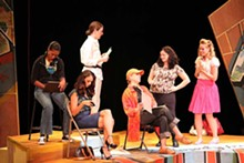 KIM CARLSON - Andrea Purnell, Sabra Sellers, Nicole Angeli, Andra Harkins, Amy Kelly and Gabrielle Greer in St. Louis Shakespeare's Anton in Show Business.