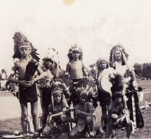 COURTESY KEVIN AIRIS - Thomas Airis (far right) and members of his dancing troupe.