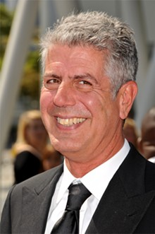 "BYRON PURVIS/ADMEDIA - Culinary adventurer Anthony Bourdain wonders, ""Am I helping, once again, to kill the things I love?"""