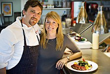 GREG HOOK - Elk is just one outstanding dish at Niall and Kristie Campbell's eco-friendly Firefly Grill.
