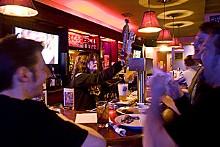 JENNIFER SILVERBERG - Bartender Rachel Smith pours a pint.