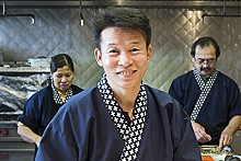 JENNIFER SILVERBERG - The new Mr. Sushi: Momoyama's head chef, Mr. K. Lee.