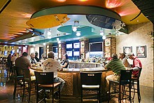 JENNIFER SILVERBERG - Mas tequila: Sammy's Beach Bar & Grill sets up its umbrella in Maryland Heights.