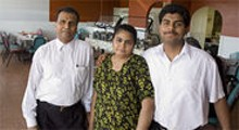 JENNIFER SILVERBERG - Family matters: (left to right) Zahid, Shaheena and Zack  Khan.