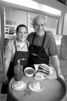 """ERIC  FOGLEMAN - """"I only serve what I like here"""": Plush Pig's Larry - Lampert (right, with daughter Angie)"""