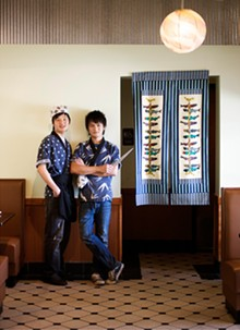 JENNIFER SILVERBERG - Rockin' rolls: Sushi chef Qi Dong and his cousin and co-owner, Jake Dong. See more photos from Sushi Ai.