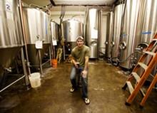 JENNIFER SILVERBERG - Brewmaster Josh Wilson of Hill Brewing Company.