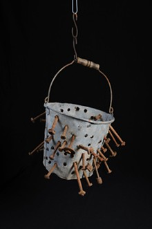 RAY MARKLIN - Farm bucket altered for use as a chimney brush from the collection of Rick Ege.