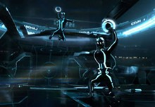 A different kind of lights are all aglow this December in the reboot of Joseph Kosinski's Tron: Legacy.