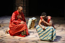 STEWART GOLDSTEIN - Helicanus (Chauncy Thomas) consoles Pericles (Ka'ramuu Kush) as things go from bad to worse.