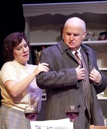 JOHN LAMB - Kelley Ryan and Gary Wayne Barker in Mustard Seed's Shadowlands.