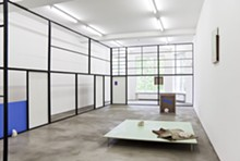 COURTESY OF THE ARTIST AND SPRUTH MAGERS, BERLIN. - Thea Djordjadze, Explain away, 2009. Wood, hardboard, carpet, paint, clay and fabric; dimensions variable.