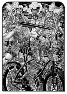 Brutal Truths Printmaker Tom Huck plumbs the dark night of America's soul via his back-roads hometown of Potosi.