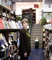 JENNIFER SILVERBERG - Owner Kelly von Plonski shows off her fiction - section.