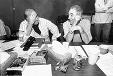 JENNIFER SILVERBERG - The Repertory Theatre of St. Louis' Steve Woolf with Lanford Wilson in 1999 when the Rep premiered Wilson's Book of Days.