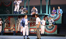 LARRY PRY/MUNY - Boys of summer: Damn Yankees at the Muny.