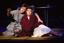 JOHN LAMB - A dismal science: Andra Harkins and Allison Ginsburg in Marigolds.
