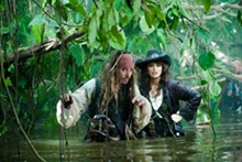 Pleasure cruise: Johnny Depp and Penélope Cruz get swampy in Pirates of the Caribbean: On Stranger Tides.
