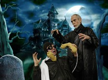 Scott McMaster and Richard Lewis experience a lesser-known biblical plague in The Abominable Dr. Phibes...in 3-D.
